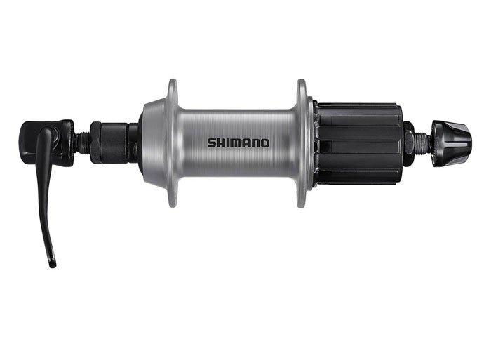Втулка задняя SHIMANO TX500, v-br, 36 отв, 8/9, QR, old:135мм, серебро, EFHTX5008AZAS