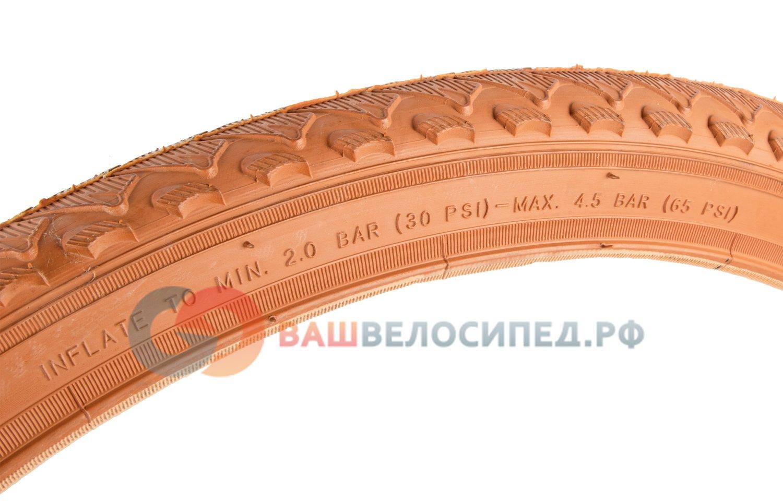Велопокрышка Wanda 24*1.95 светло-коричневая, J1027 24*1.95 light brown