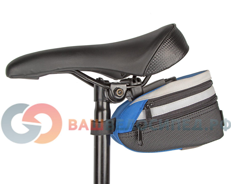 Велосумка под седло KONNIX TY-05120X, быстросъёмная, с расширяемым объёмом, синяя