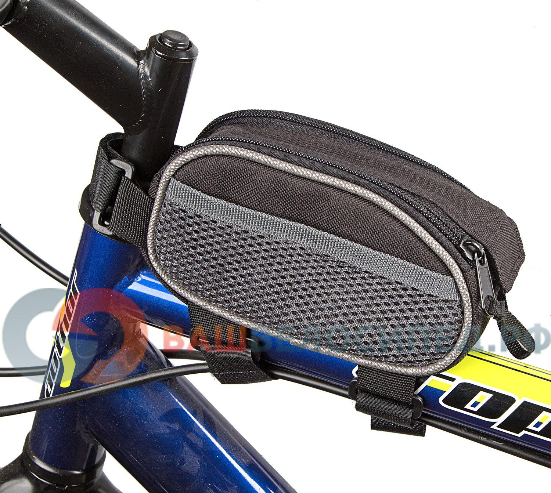 Сумка под раму велосипеда KONNIX TY-0902, 15х6,5x8,5см, материал EVA, два боковых сетчатых кармана,