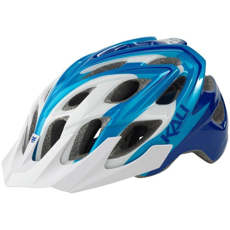 Велошлем KALI Chakra Plus Sonic, бело синий (Размер: XS/S)