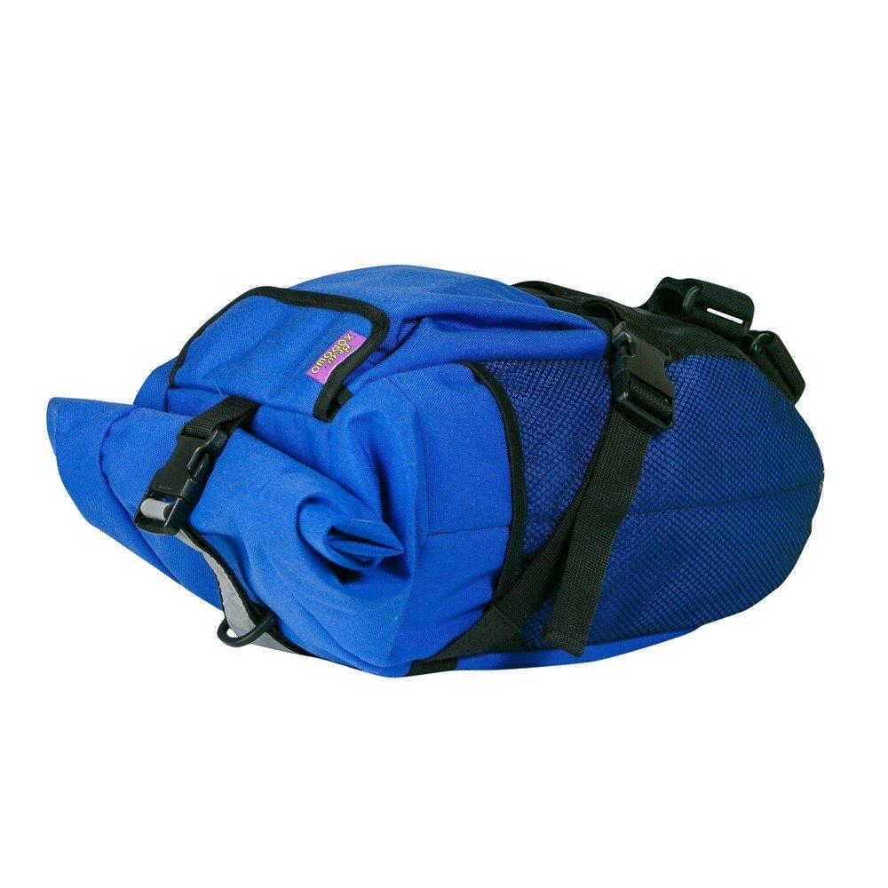 Сумка подседельная ВелоХорошо, 18х18х60см, 4-8л, синяя, SB02