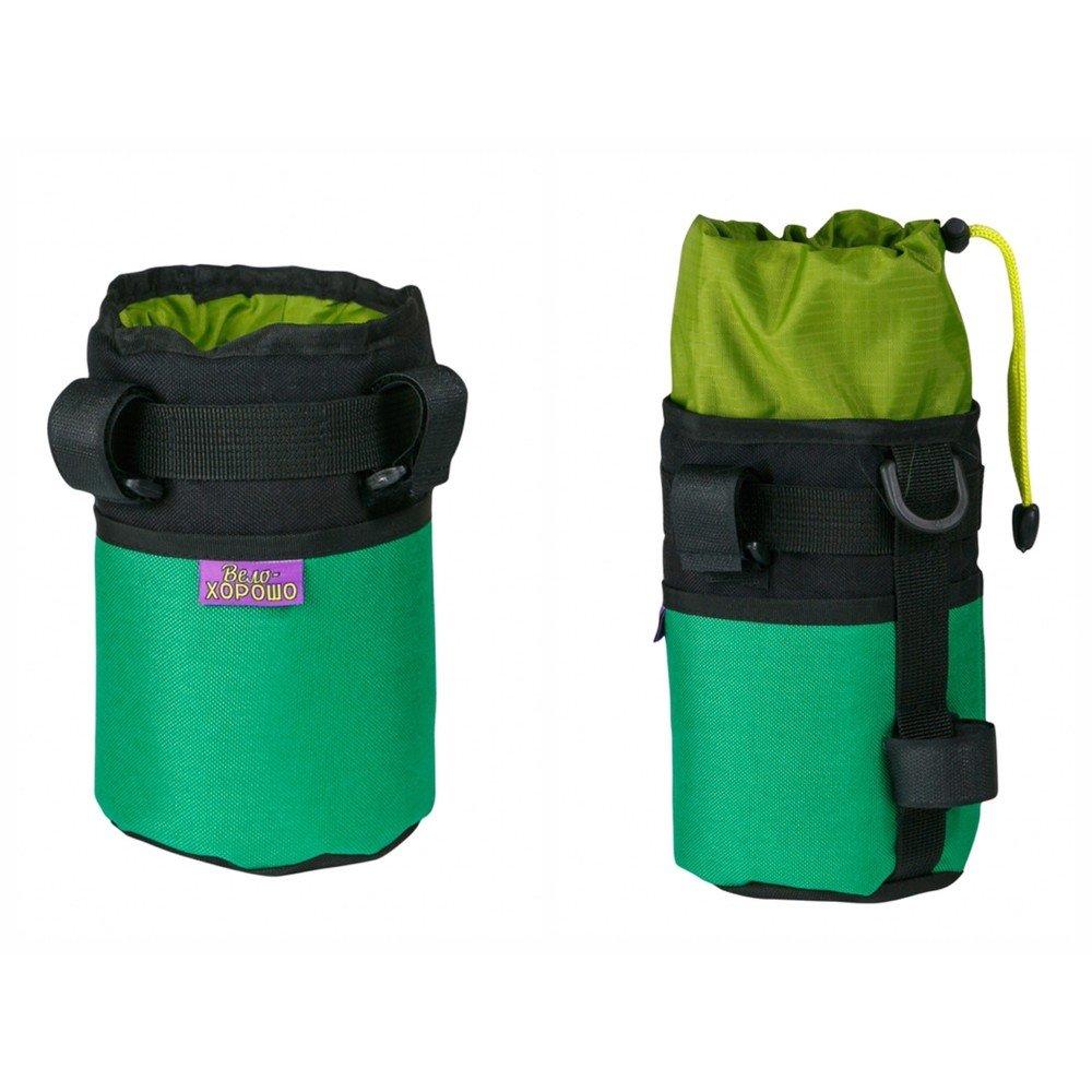 """Велосумка ВелоХорошо """"Всячина Bag"""", 10см* 18см, зеленый, BT06"""