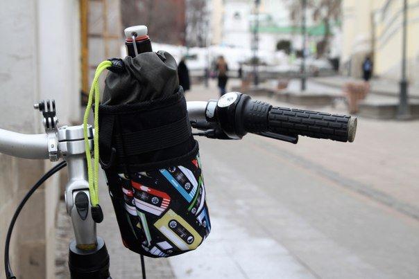 """Велосумка ВелоХорошо """"Всячина Bag"""", 10см* 18см, черный, BT05"""