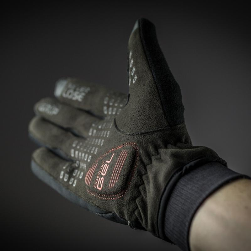 Велоперчатки зимние GripGrab Windster, черные (Размер - M)