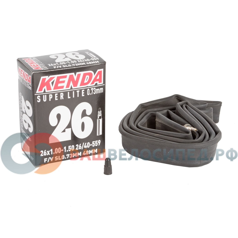 "Камера для велосипеда KENDA 26""х1.00-1.50 (26/40-559), узкая спортниппель 48мм резьба, 5-515205"
