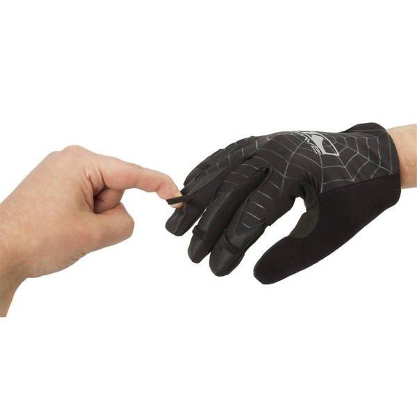 Перчатки велосипедные  M-WAVE SPIDERWEB, черные, 5-719867 (Размер S (22 см) )