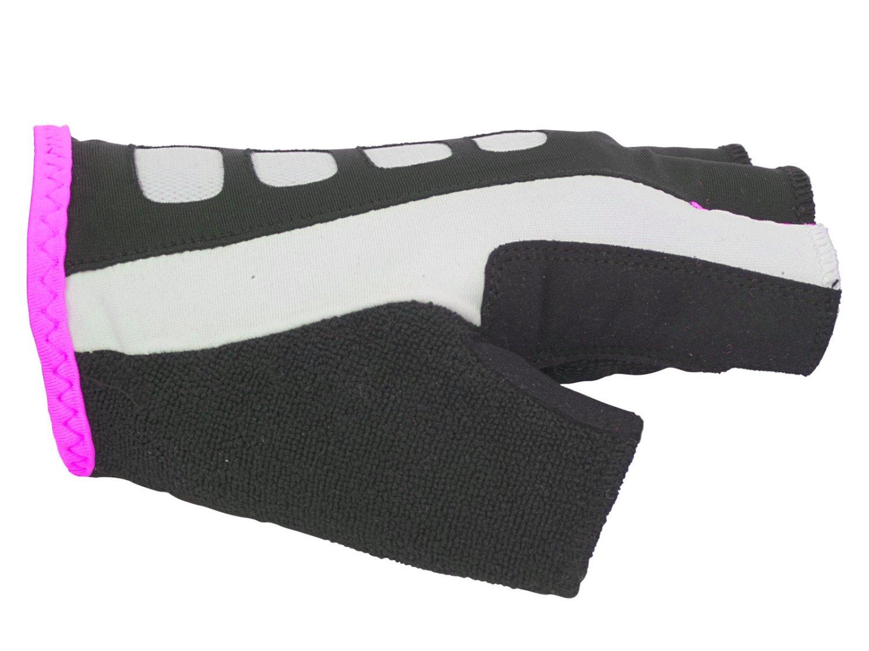 Перчатки женские AUTHOR Lady Sport Gel X6, черно-розовые, гель/лайкра/синтетическая кожа с петелькам (Размер: S)