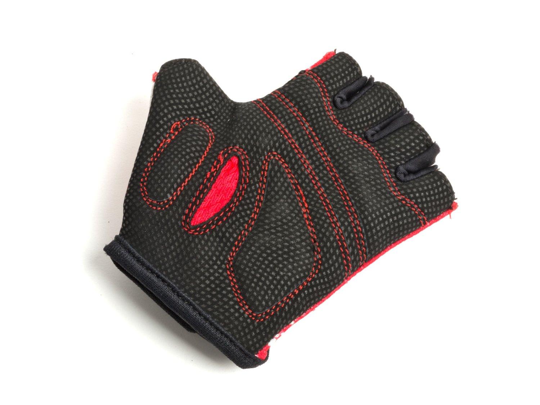 Перчатки подростковые AUTHOR X6, красно-белые, замша/синтетическая кожа (Размер: M)
