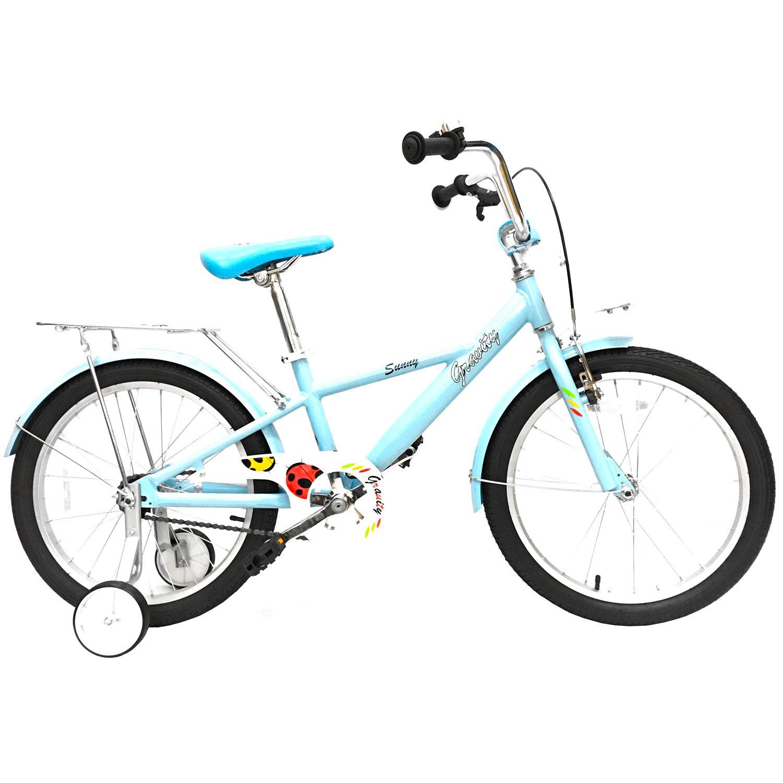 """Детский велосипед Gravity SUNNY 20"""" 2017 (Колеса: 20"""" (Рост: 115 - 135 см), Цвет: голубой)"""