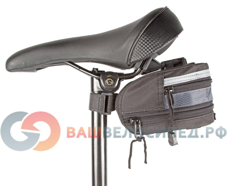 Подсумок велосипедный M-WAVE подседельный, раскладной, средний, размер М, 5-122357