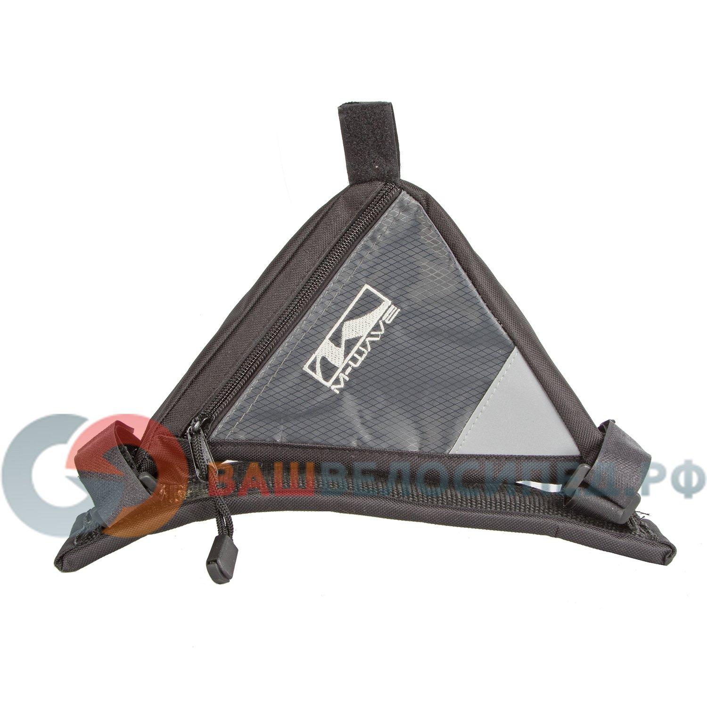 Подсумок велосипедный M-WAVE подрамный треугольный черный 5-122366