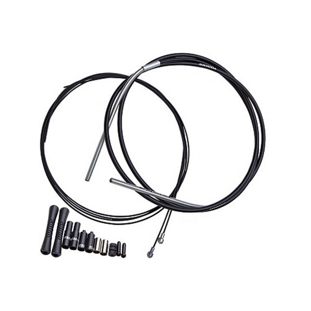 Комплект рубашек и тросиков тормозной  SRAM SlickWire Road Brake Cable Kit, 5 мм, черный