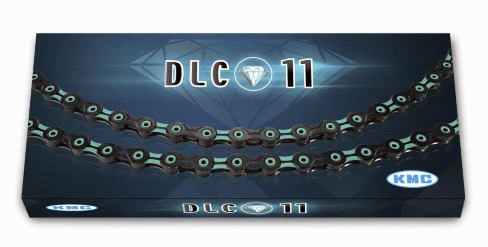 Цепь KMC DLC X11SL, 11 скоростей, 116L, черно-синий, BXSL11BG