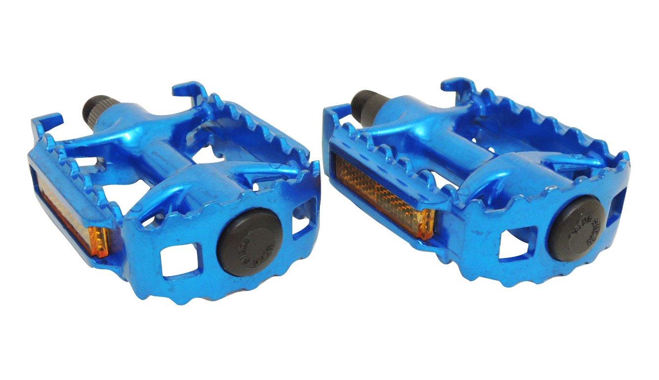 Педали МТВ алюминиевые HORST, литые, с отражателями, 332г/пара, 100х65х30мм, синие, 00-170362