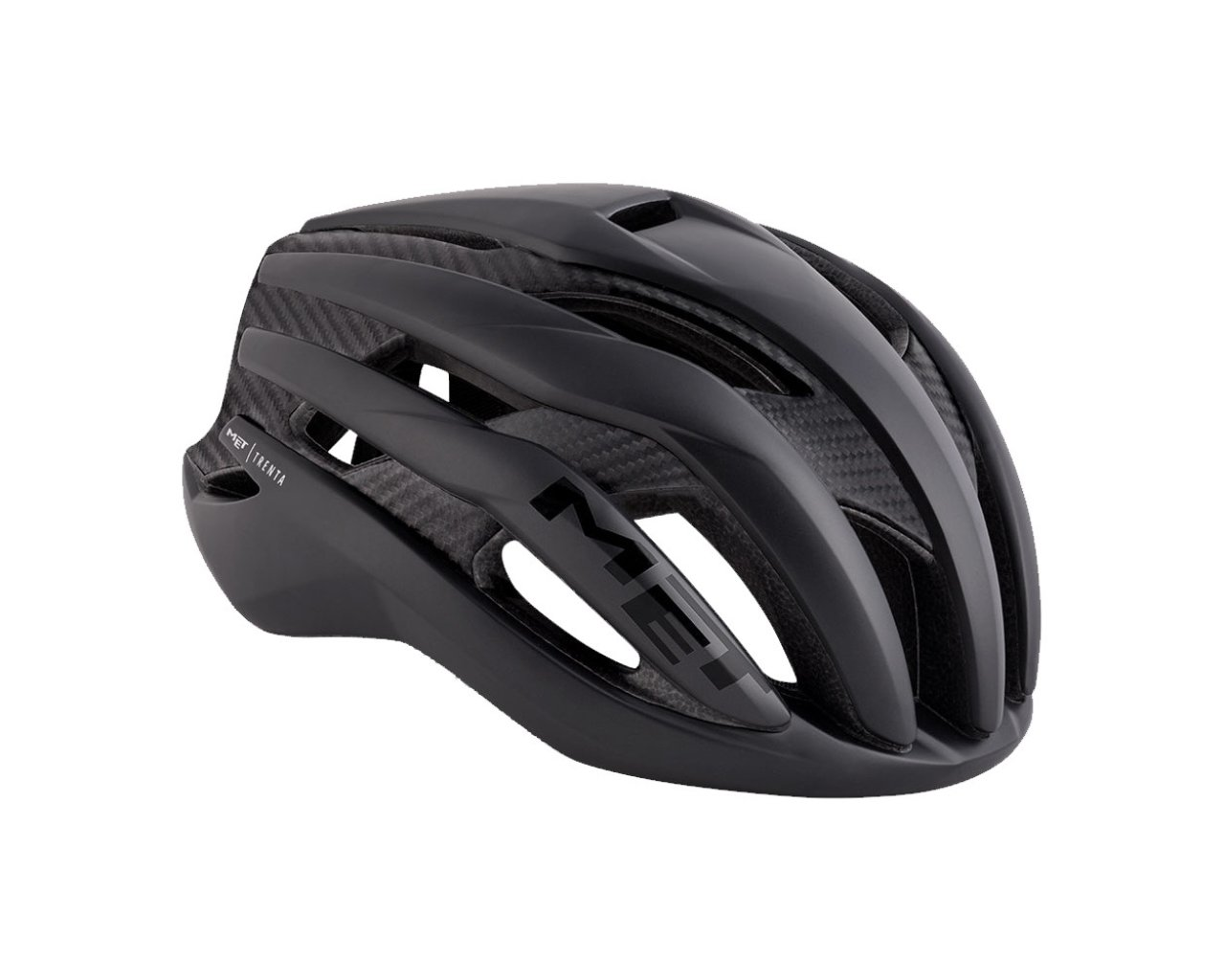 Велошлем Met Trenta 3k Carbon, матовый черный 2018 (Размер: S (52-56 см))