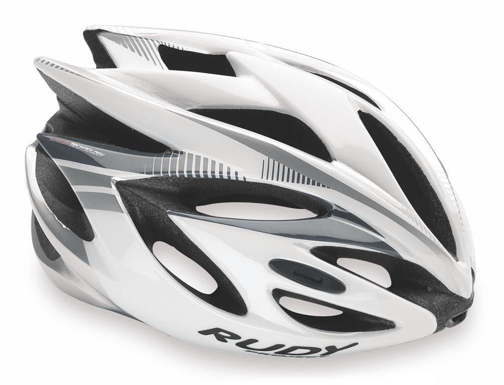 Каска Rudy Project RUSH WHITE/SILVER SHINY S