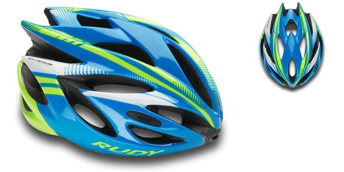 Каска Rudy Project RUSH BLUE-LIME  FLUO SHINY L