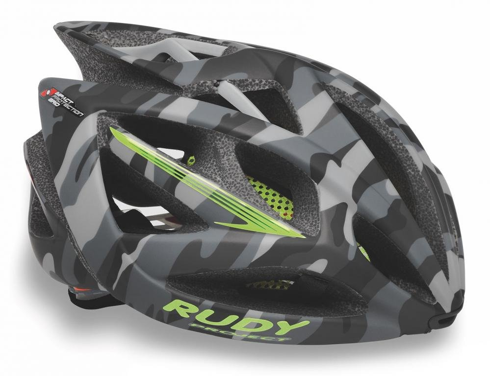 Каска Rudy Project AIRSTORM GREY CAMO/YELLOW FLUO MATT S/M