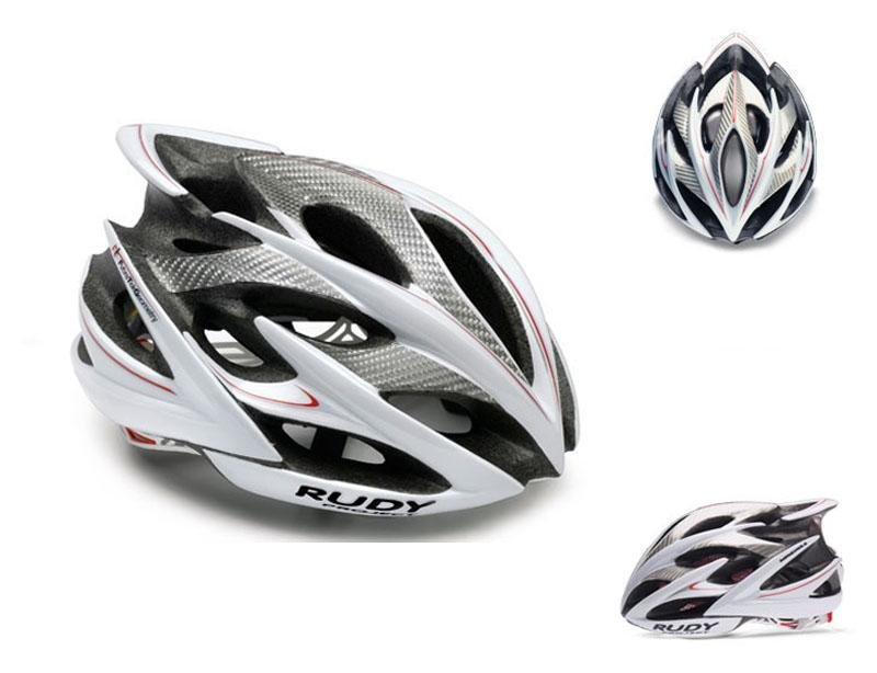 Велошлем Rudy Project WINDMAX WHITE/SILVER/RED SHINY L