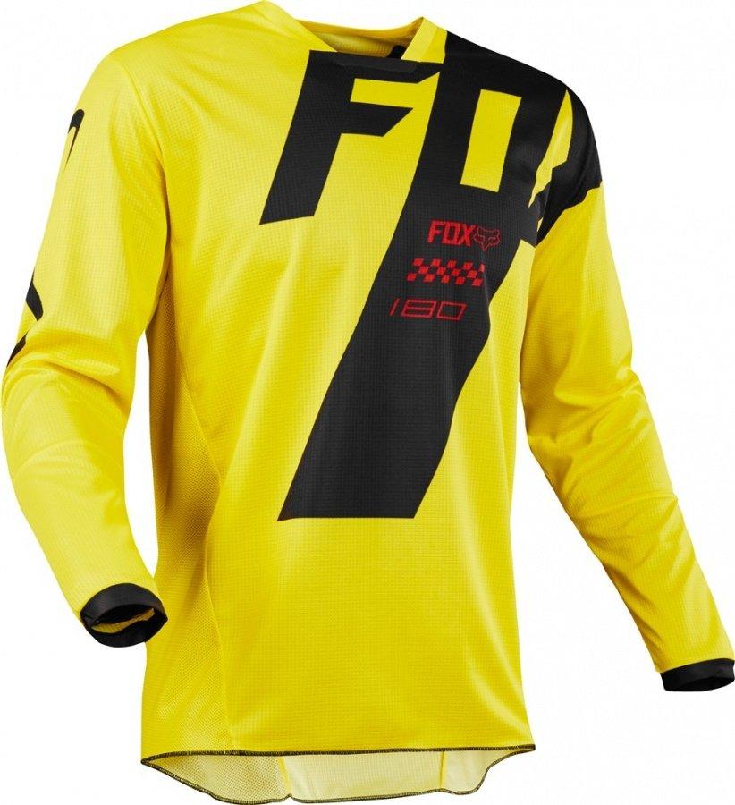 Велоджерси Fox 180 Mastar Jersey, желтый 2018 (Размер: L )