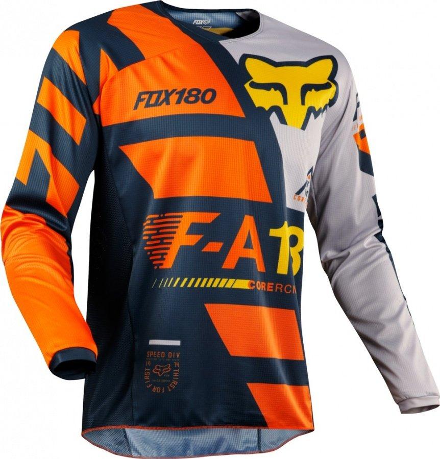 Велоджерси Fox 180 Sayak Jersey, оранжевый 2018 (Размер: XXL)