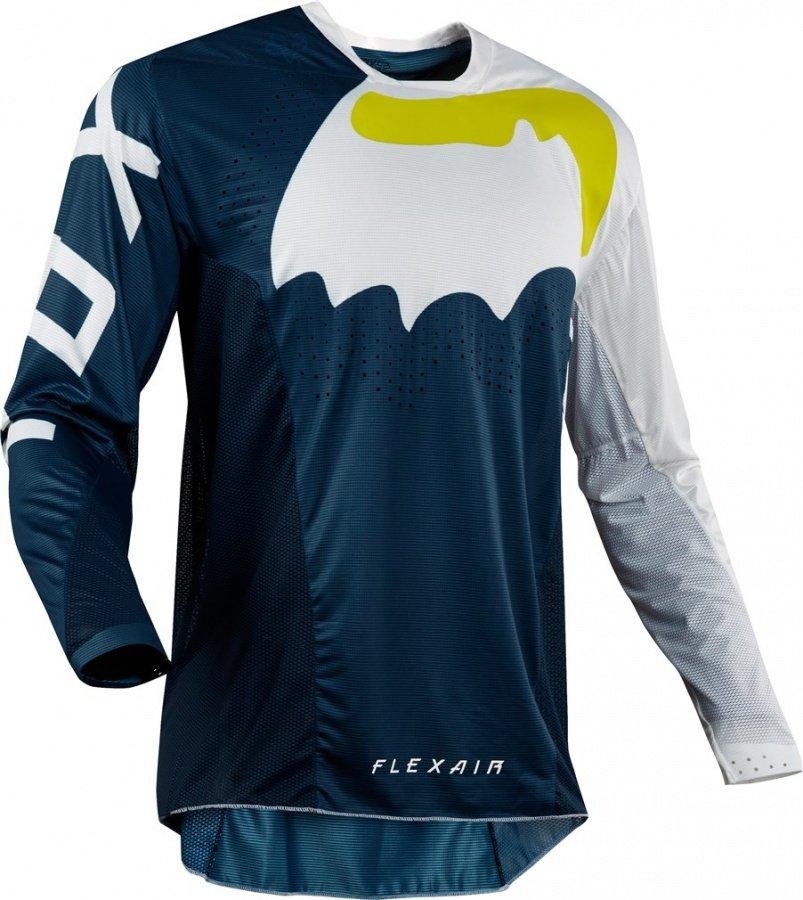 Велоджерси Fox Flexair Hifeye Jersey, сине-белый 2018 (Размер: XL)