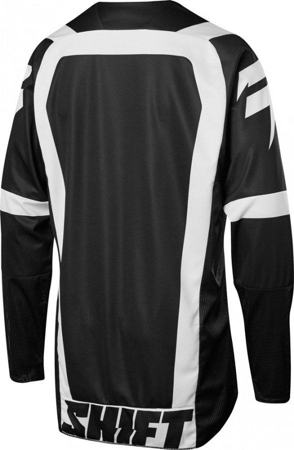 Велоджерси Shift Black Strike Jersey, черно-белый 2018 (Размер: XXL )