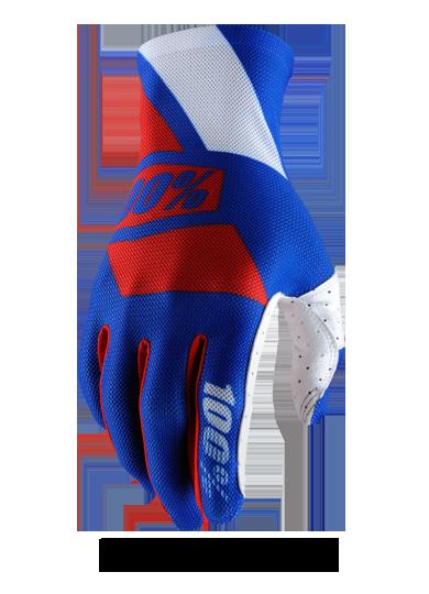 Велоперчатки 100% Celium Glove, сине-красный  2017 (Размер: L )