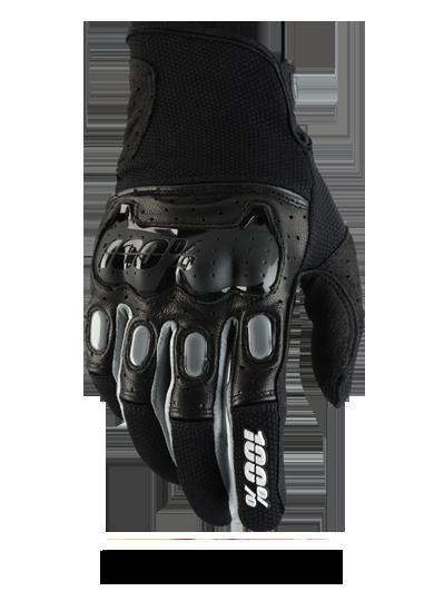 Велоперчатки 100% Derestricted Glove, черно-серый 2017 (Размер: M )