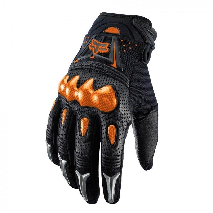 Велоперчатки Fox Bomber Glove, черно-оранжевый 2018 (Размер: S )