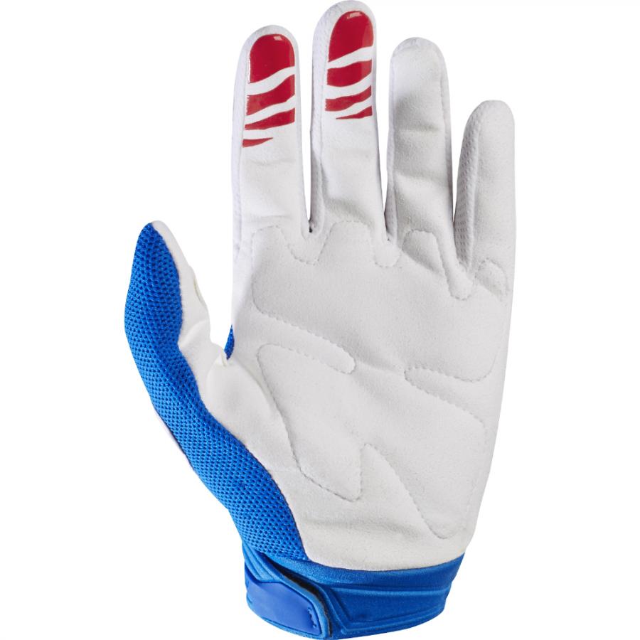 Велоперчатки Fox Dirtpaw Race Glove, синий-белый 2017 (Размер: L )