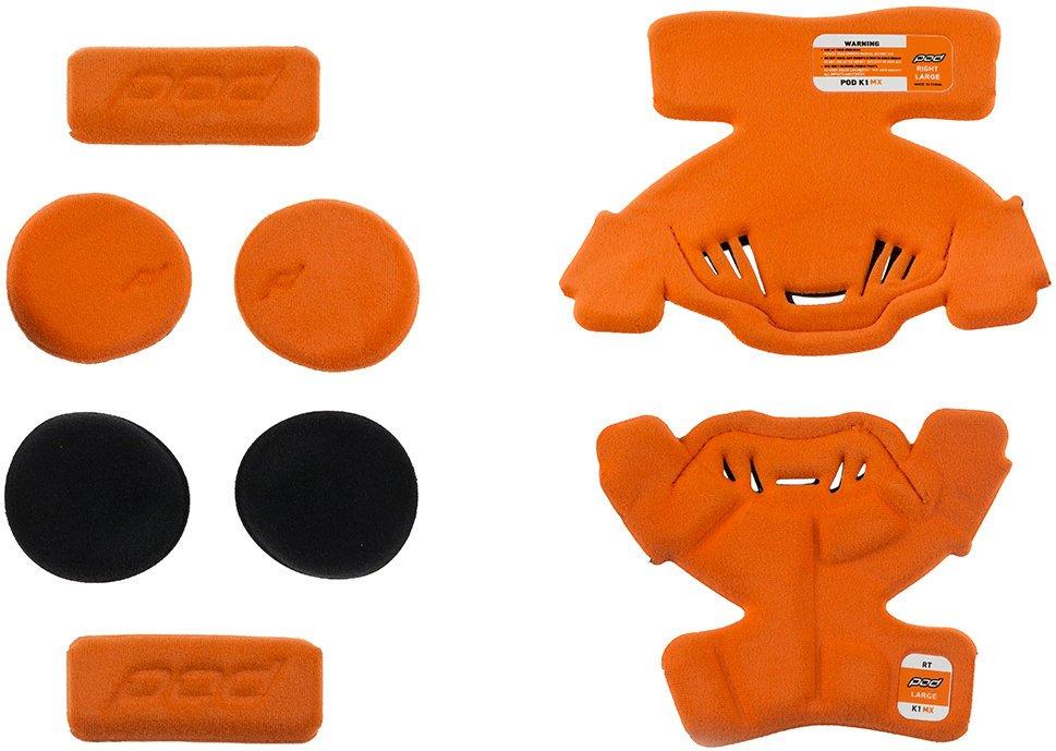Вставки мягкие правого наколенника подросткового POD K1 YTH MX Pad Set Right, оранжевый  (Размер: M)