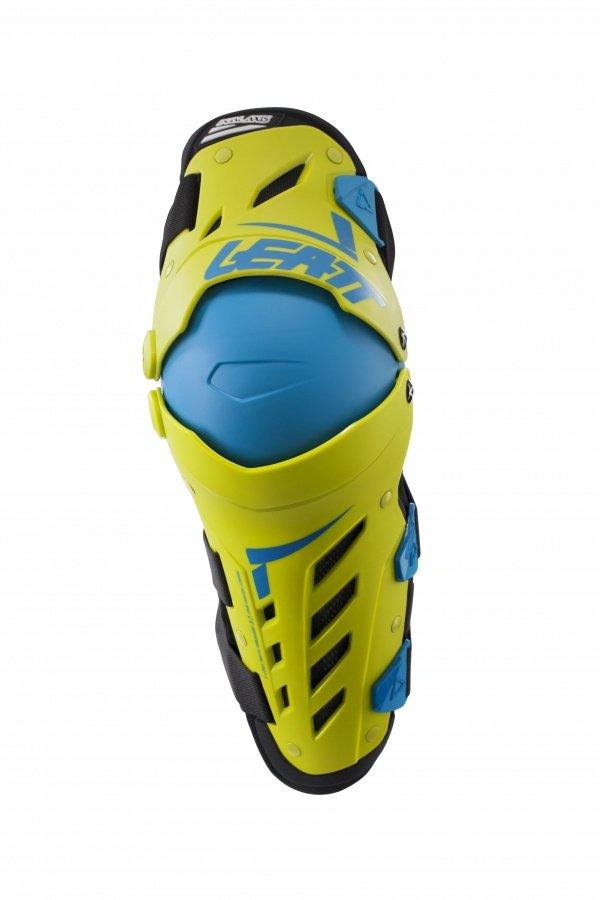 Наколенники Leatt Dual Axis Knee & Shin Guard, желто-синий 2018 (Размер: L/XL )