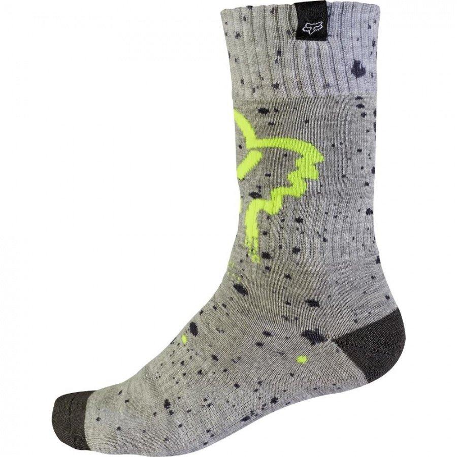 Носки подростковые Fox MX Nirv Youth Sock, серо-желтый 2017 (Размер: S )