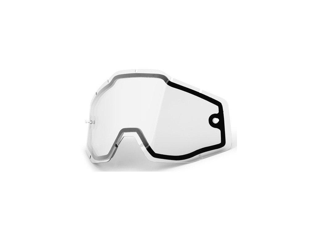 Линза 100% Enduro Dual Lens Clear, 51005-010-02