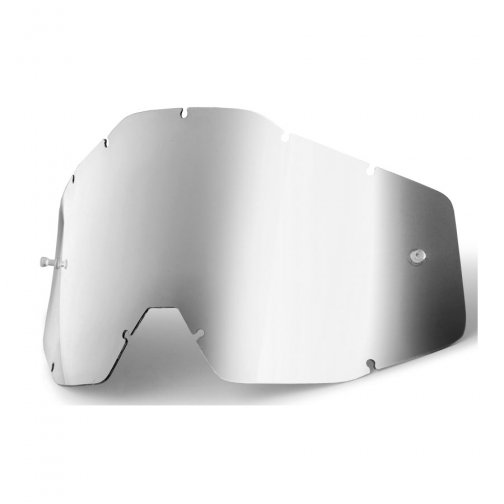 Линза 100% Racecraft/Accuri/Strata Anti-Fog Silver Mirror, 51002-008-02