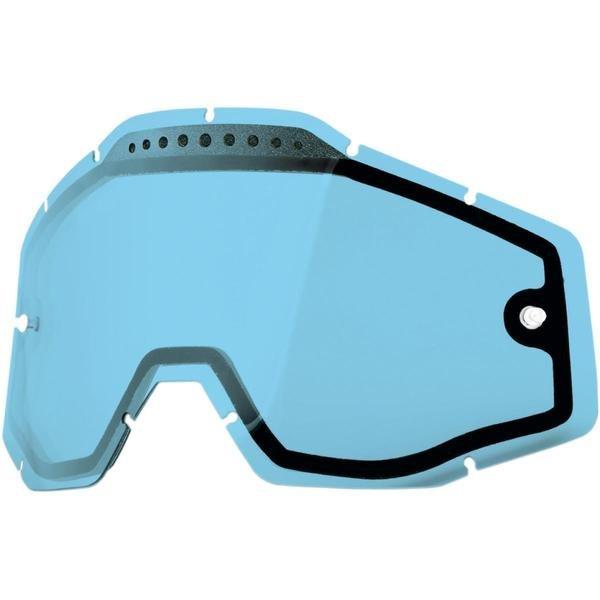 Линза 100% Racecraft/Accuri/Strata Vented Dual Pane Lens Anti-Fog Blue, 51006-002-02
