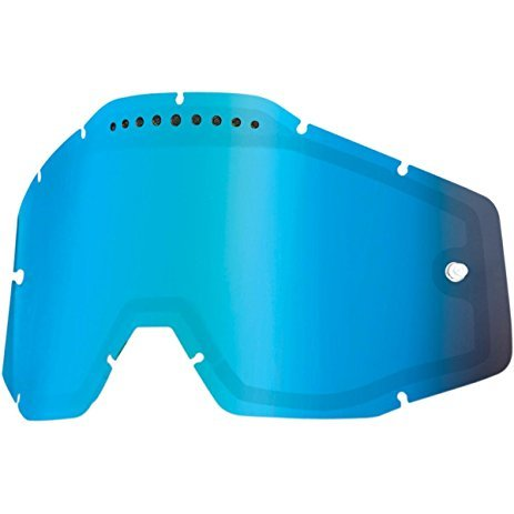 Линза 100% Racecraft/Accuri/Strata Vented Dual Pane Lens Anti-Fog Blue Mirror, 51006-022-02