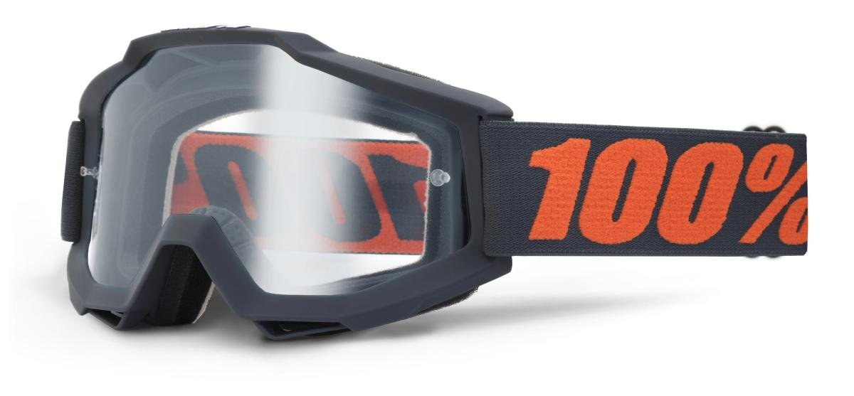 Велоочки 100% Accuri Enduro Gunmetal / Clear Dual Lens, 50202-025-02