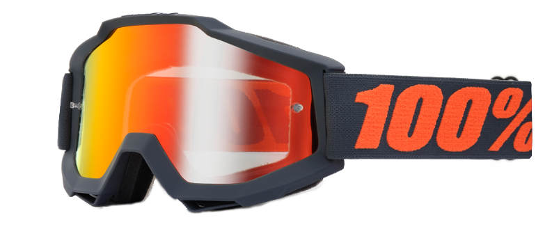 Велоочки 100% Accuri Matte Gunmetal / Mirror Red Lens, 50210-025-02