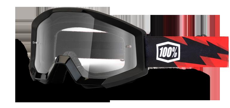 Велоочки 100% Strata Slash / Clear Lens, 50400-076-02