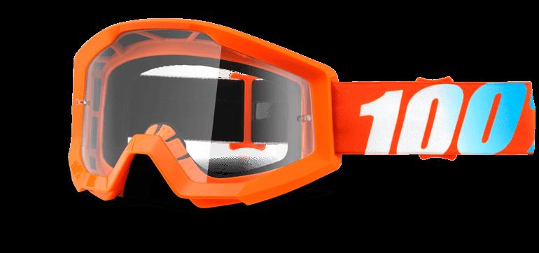 Велоочки 100% Strata Orange / Clear Lens, 50400-006-02