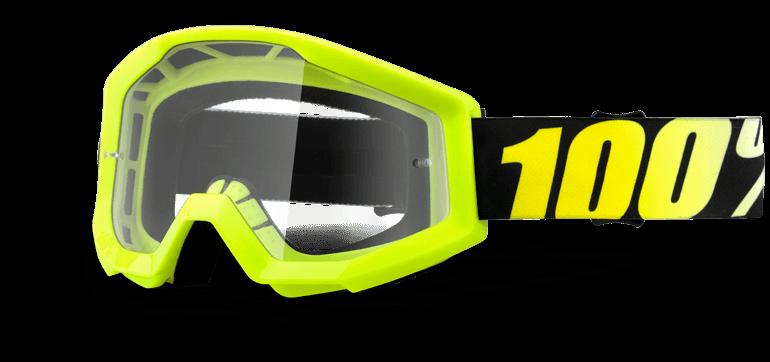 Велоочки 100% Strata Neon Yellow / Clear Lens, 50400-004-02