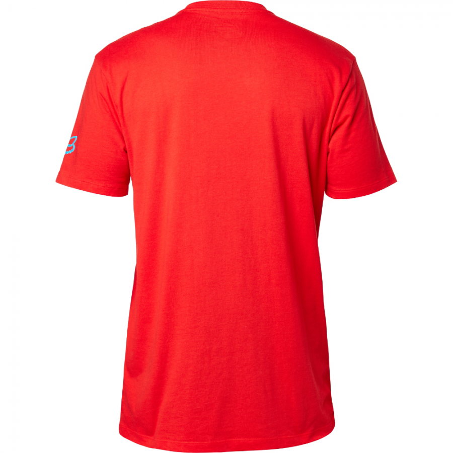 Велофутболка Fox Pragmatic SS Tee, красный 2016 (Размер: S)