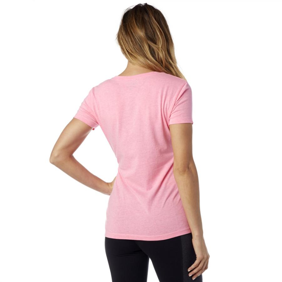 Велофутболка женская Fox Phoenix V Neck SS Tee, неоновый розовый 2016 (Размер: L)