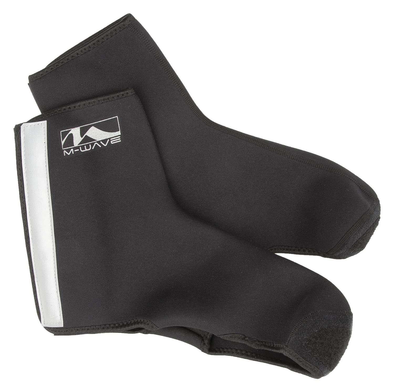 Защита обуви M-WAVE, неопрен, светоотражательные элементы, р-р M/L, черная, 5-715316