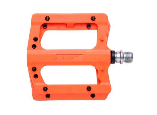 Педали велосипедные HT PA12A, неоновый оранжевый, PA12A010101