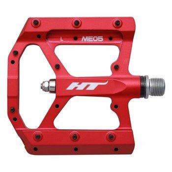 Педали велосипедные HT ME05, матовый красный, ME05302101