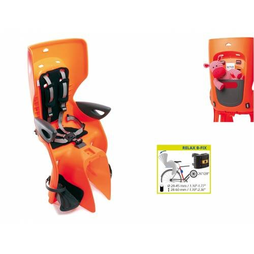 Детское велокресло BELLELLI заднее Summer Relax B-fix, оранжевый, до 22кг